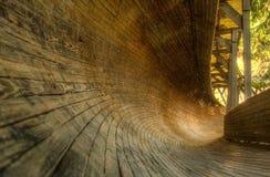 Abandonné luge la voie dans Murjani Photographie stock