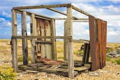 Abandonné pêchant la hutte Photos stock