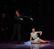 Abandonné par danse du monde de l'Autriche de danse-le d'amour-flamant Images libres de droits