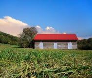 Abandonned Brick Barn Stock Photography