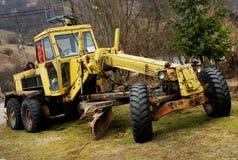 Abandonned bulldozer. On a site stock photos