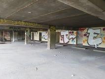 abandonned byggnad Arkivbild