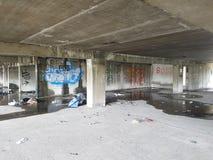 abandonned byggnad Arkivfoto