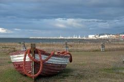 Abandonned Fischerboot Stockfoto