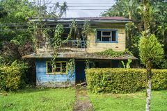 Abandonned House on Cahuita road. From Puerto Viejo, COsta rica stock images