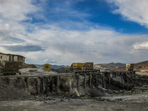 Abandonned mines in Potosi, Bolivia Royalty Free Stock Photo