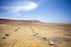 Abandonnez à côté de l'océan en parc national Paracas dans AIC, Pérou Photo libre de droits