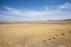 Abandonnez à côté de l'océan en parc national Paracas dans AIC, Pérou Images libres de droits