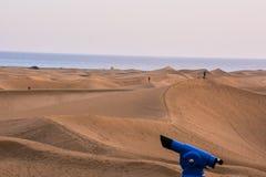 Abandonnez avec des dunes de sable dans mamie Canaria Espagne Photo stock
