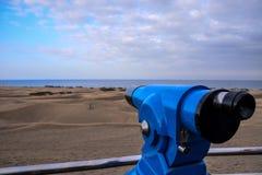 Abandonnez avec des dunes de sable dans mamie Canaria Espagne Images stock