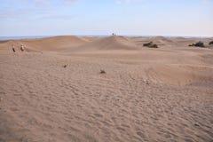 Abandonnez avec des dunes de sable dans mamie Canaria Espagne Photo libre de droits