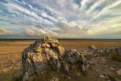 Abandonnez en Pologne - le plus grand désert en Europe photo libre de droits