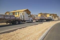Abandonnez la construction de nouvelles maisons en Clark County, Las Vegas, nanovolt Image libre de droits