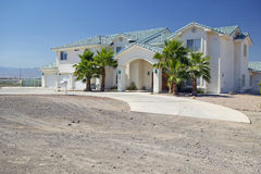 Abandonnez la construction de nouvelles maisons en Clark County, Las Vegas, nanovolt Images libres de droits