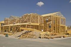 Abandonnez la construction de nouvelles maisons en Clark County, Las Vegas, nanovolt Images stock