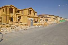 Abandonnez la construction de nouvelles maisons en Clark County, Las Vegas, nanovolt Photos libres de droits