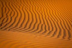Abandonnez la dune à l'erg Chebbi près de Merzouga au Maroc Images libres de droits