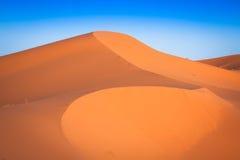 Abandonnez la dune à l'erg Chebbi près de Merzouga au Maroc Image stock