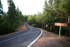 Abandonnez la route curvy Image libre de droits