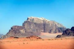 Abandonnez la scène, rhum de Wadi, Jordanie Photographie stock libre de droits