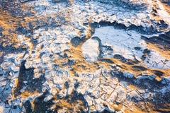 Abandonnez la texture de plan rapproché de sable avec la lumière du soleil d'or, parc national de Death Valley, la Californie, Et Images libres de droits