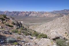 Abandonnez la vallée du canyon rouge de roche, Nevada Image libre de droits