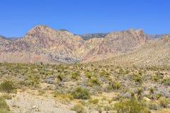 Abandonnez la vue de la route 160, Nevada, Etats-Unis Image stock