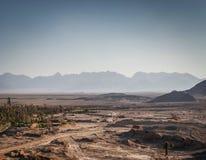 Abandonnez la vue de paysage dans l'oasis Iran du sud de garmeh Photo libre de droits