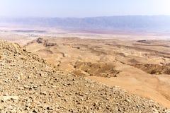 Abandonnez la vue de paysage de vallée de montagnes, nature de déplacement de l'Israël Photo libre de droits