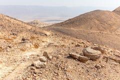 Abandonnez la vue de paysage de vallée de montagnes, nature de déplacement de l'Israël Photographie stock libre de droits