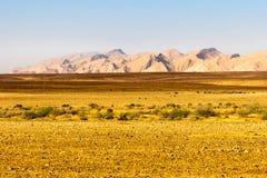Abandonnez la vue de paysage de falaises de gamme de montagne, nature de l'Israël Images stock