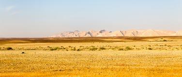 Abandonnez la vue de paysage de falaises de gamme de montagne, nature de l'Israël Photos libres de droits
