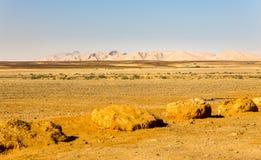 Abandonnez la vue de paysage de falaises de gamme de montagne, nature de l'Israël Photographie stock