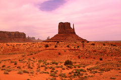 Abandonnez la vue en vallée de monument, Utah, Etats-Unis Image stock