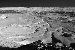 Abandonnez le b&w scénique de fond de texture de paysage de vallée de montagnes Photos stock