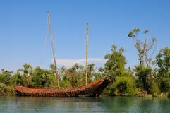 Abandonnez le bateau de pirate Photographie stock