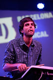 Abandonnez le concert (de bande électronique) à la La musicale Merce Festival de Barcelone Accio (bam) Image libre de droits