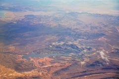 Abandonnez le paysage à Las Vegas a regardé d'un avion Photos stock
