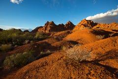 Abandonnez le paysage dans la vallée du feu Nevada Photographie stock libre de droits