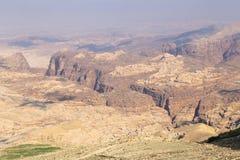 Abandonnez le paysage de montagne (vue aérienne), Jordanie, Moyen-Orient Photographie stock