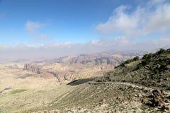 Abandonnez le paysage de montagne (vue aérienne), Jordanie, Moyen-Orient Photo stock