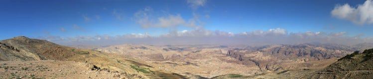 Abandonnez le paysage de montagne (vue aérienne), Jordanie, Moyen-Orient Photos libres de droits