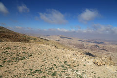 Abandonnez le paysage de montagne (vue aérienne), Jordanie, Moyen-Orient Image stock