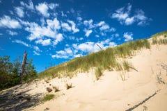Abandonnez le paysage, parc national de Slowinski près de Leba, Pologne Image stock
