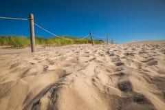 Abandonnez le paysage, parc national de Slowinski près de Leba, Pologne Image libre de droits