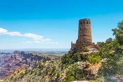 Abandonnez le point de vue de vue et la tour antique de Navajo Attraction touristique de parc national de Grand Canyon, Arizona Photo stock