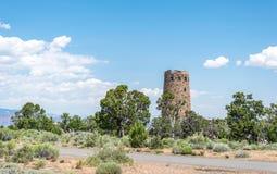 Abandonnez le point de vue de vue et la tour en pierre antique de wath Point de repère célèbre de parc national de Grand Canyon,  Photos stock