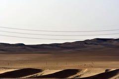 Abandonnez le sable et les dunes de sable, au coeur de l'Arabie Saoudite sur le chemin à Riyadh Images stock