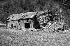 Abandonnez le vieil †la «Virginie, Etats-Unis de grange Photographie stock libre de droits