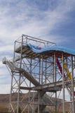 Abandonnez les coureurs, glissière d'arc-en-ciel à n humide sauvage, à Las Vegas, nanovolt dessus Images libres de droits
